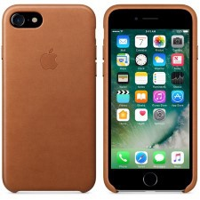 IPHONE 7  LEATHER CASE -SADDLE BROWN