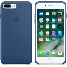 IPHONE 7 + SILCONE CASE -OCEANIC BLUE