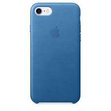 IPHONE 7  LEATHER CASE -BLUE