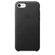 IPHONE 7  LEATHER CASE -BLACK