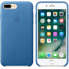 IPHONE 7 + LEATHER CASE -SEA BLUE