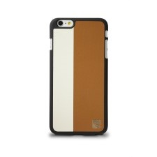 Maroo snap on case for IP6+  - Wht/ Brwn