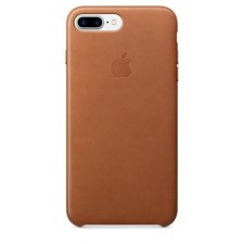 IPHONE 7 + LEATHER CASE -SADDLE BROWN