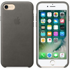 IPHONE 7  LEATHER CASE -STOMY GRAY
